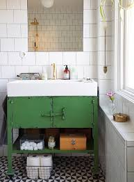 Retro Bathroom Vanities by In Sweden A Designer U0027s Home Gushes Color And Pattern Design