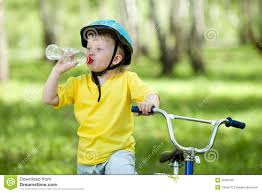 Cute Child by Cute Child Kid On Bicycle And Drinking Water Stock Image Image
