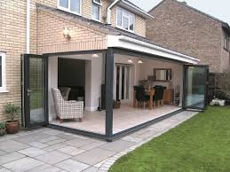 Pvc Folding Patio Doors by Bi Door U0026 Bi Fold Doors Opening Into A Kitchen