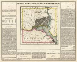 Map Of Columbia Geographical Statistical And Historical Map Of The District Of