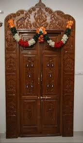 Simple Pooja Room Door Designs In Wood