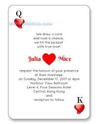 wedding announcement template vegas wedding invitations