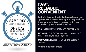 mercedes schedule b service sprinter service and repair center team service and parts