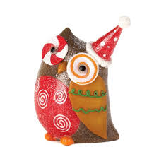 Owl Decor Sparkly Holiday Owl Decor