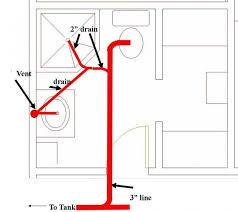 Installing Basement Shower Drain by Vent Shower Drain