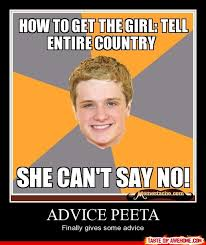 Advice Memes - advice peeta actually giving advice tv and movies pinterest