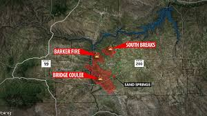 Blm Lightning Map Lodgepole Complex Fires Grow To 250 000 Acres Containment Now A