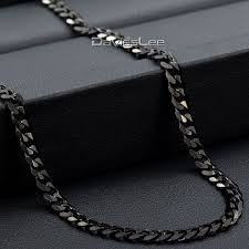 wholesale jewelry necklace chains images 3 5mm wholesale jewellery mens black silver tone curb cuban jpg