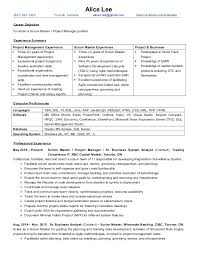 Scrum Master Resume Example by Alice Lee Resume Pm Scrum Master Oct2016 Finance