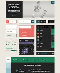 50 free flat ui kits to speed up your workflow