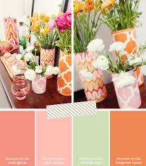 paint palette inspiration coral pink mint u0026 tangerine brunch