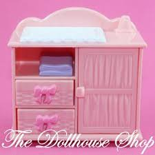 fisher price changing table fisher price loving family dollhouse baby doll s pink changing table
