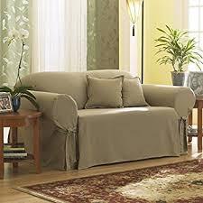 Surefit Sofa Covers by Amazon Com Sure Fit Cotton Duck Sofa Slipcover Linen Sf26666