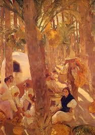 the elche palm grove 1918 joaquín sorolla wikiart org