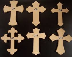 unfinished wood crosses 10 12 x 16 1 2 thick unfinished wooden
