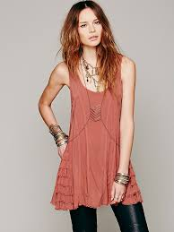 free people womens ruffled up cami in brown lyst