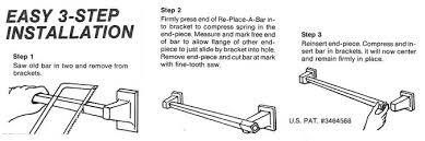 Shower Door Towel Bar Replacement Parts Re Place A Bar Fix Your Broken Shower Towel Rods