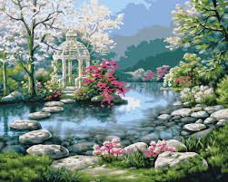 Beautiful Garden Pictures Beautiful Garden Paintings Love Your Place Peaceful Japanese