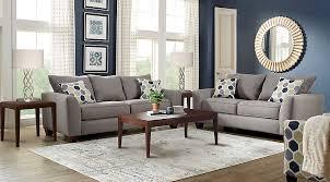 livingroom pc bonita springs 8 pc gray living room plus hdtv upholstered