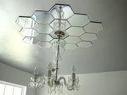 What Size Ceiling Medallion For Chandelier Diy Mirrored Ceiling Medallion Hometalk
