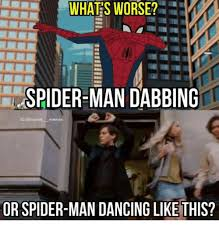 Meme Marvel - spider man dabbing ig marvel memes or spider man dancing like this