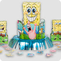 Spongebob Centerpiece Decorations by Decorations Birthday In A Box Party Supplies U0026 Decorations