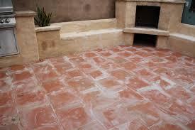 Outside Tile For Patio Curb Appeal Our Saltillo Tile Porch Pepper Design Blog
