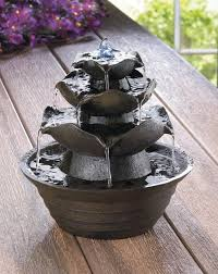 lotus bloom tabletop water fountain wholesale at koehler home deor