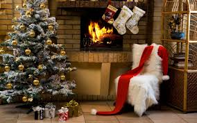 christmas fireplace decorations royalty free stock photo image