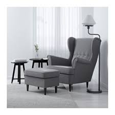 Ikea Chairs For Living Room Strandmon Wing Chair Nordvalla Gray Ikea