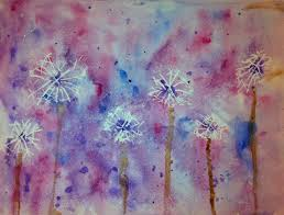 angela anderson art blog dandelion watercolor kid u0027s art class