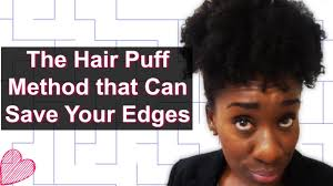 ideas for hairstyles for damaged edges how to do the high puff w o tension high puff on thin or