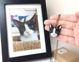 custom cat portrait etsy