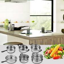 la batterie de cuisine batterie de cuisine set 12 casseroles de cuisson en acier inox
