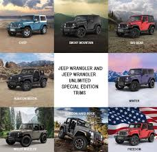 2017 jeep wrangler unlimited limited limited edition 2017 jeep wrangler and wrangler unlimited trims
