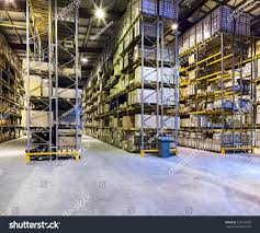 Warehouse Interior by Interior New Large Modern Warehouse Space Stock Photo 129216950