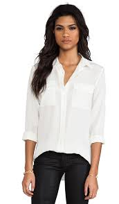 equipment signature blouse equipment slim signature blouse in nature white revolve