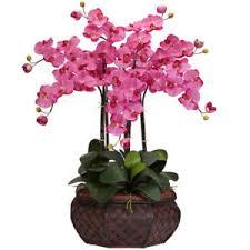 orchid flower arrangements large 30 artificial silk pink orchid flower arrangement w