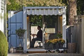 Office Storage Containers - a steel cargo container becomes a backyard retreat oregonlive com