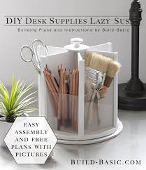 Woodworking Plans Desk Organizer by Build This Easy Diy Desk Supplies Lazy Susan For Under 20 Free