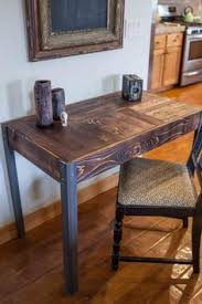 reclaimed wood modern rustic desk work table laptop station small