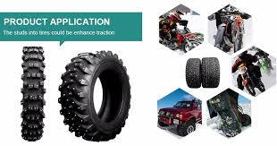 Winter Motorcycle Tires Flat Head Tire Studs For Extreme Winter Conditions For Truck