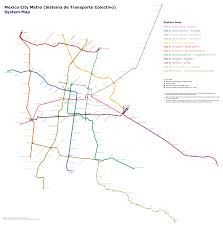 Map Mexico City by Mexico City Metro U2014 Map Lines Route Hours Tickets