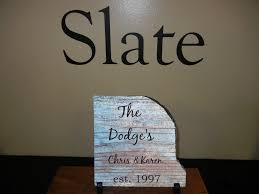 personalized slate with name and date great valentine u0027s gift for