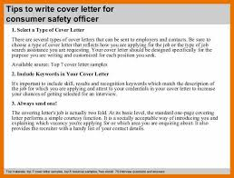 cover letter for consumer safety officer cover letter templates