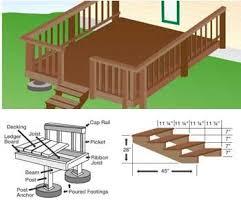 home deck plans free diy deck porch patio stair plans build your own deck