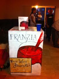 spirit halloween fargo halloween costume idea franzia red boxed wine put the actual box