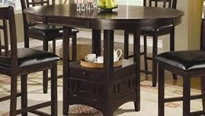 solid wood counter height table sets dark cappuccino finish round dining room tables with coaster counter