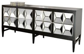 spike mirrored sideboard black contemporary buffets and