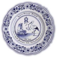 personalized birth plates delft blue personalized birth plates tiles